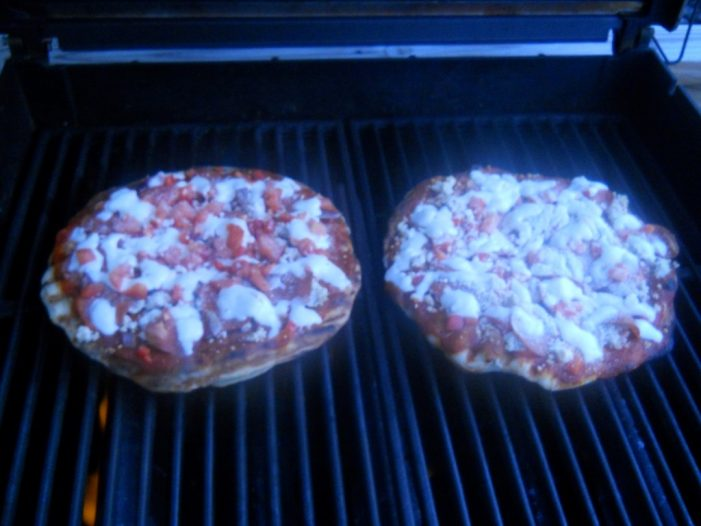 Pizza on the Weber Genesis!